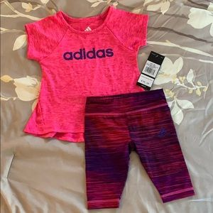 NWT 12 mo Girls Adidas outfit